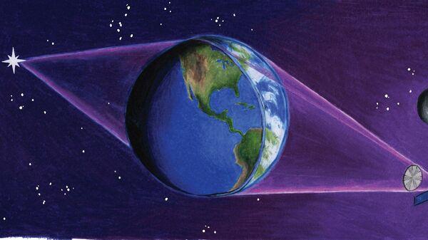 Так художник представил себе Землю, превращенную в гигантский телескоп