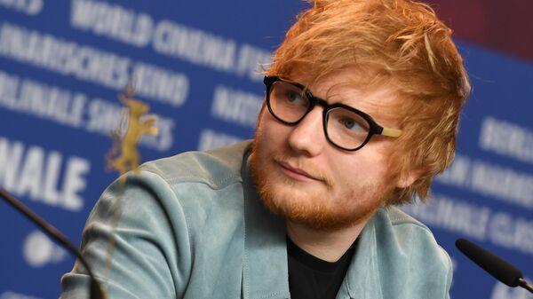 Актер, певец, музыкант Эд Ширан на пресс-конференции фильма Автор песен в рамках 68-го Берлинского международного кинофестиваля Берлинале - 2018