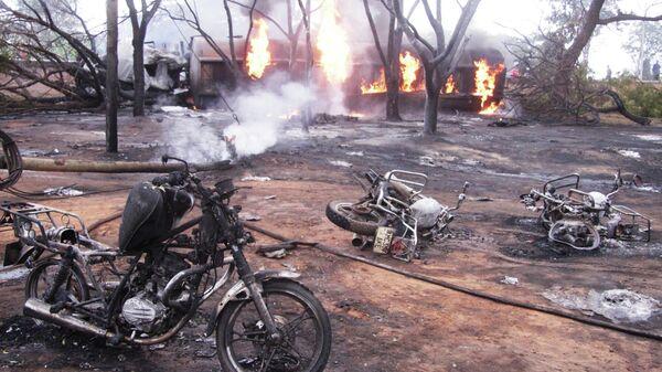 На месте аварии с бензовозом в Танзании. 10 августа 2019