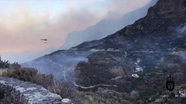 Лесные пожары на острове Гран-Канария, Испания