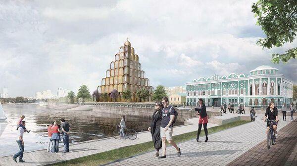 Футуристический проект храма Святой Екатерины архитектурной студии Rock