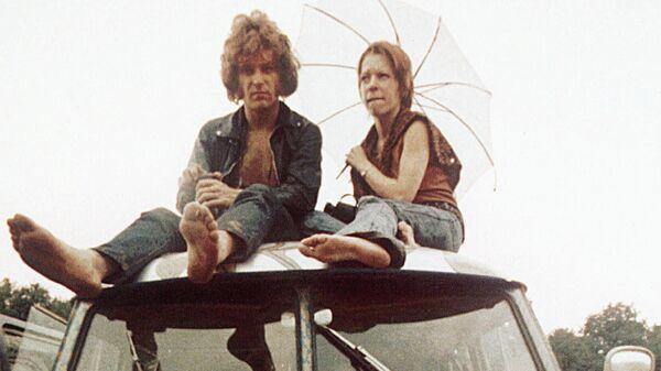 Участники Вудстокской ярмарки музыки и искусств в Бетеле. Август 1969 года