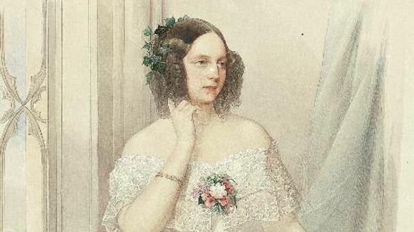 Портрет великой княжны Марии Николаевны (1825-1846) В.И. Гау. 1844 г.