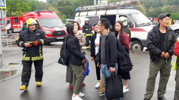 На месте ДТП с участием автобуса в Москве. 18 августа 2019