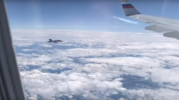 Сопровождение самолета делегации Путина швейцарскими ВВС