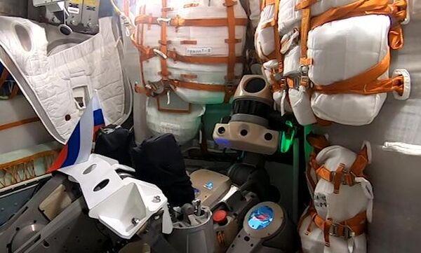Робот Федор поздравил россиян с  Днем Государственного флага. 22 августа 2019