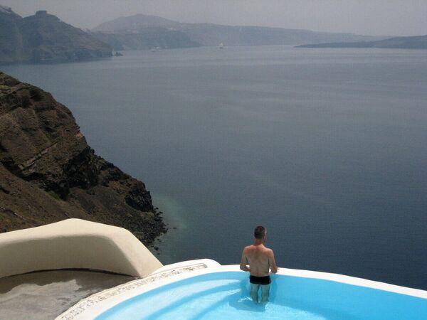 Отдых на острове Санторини в Греции