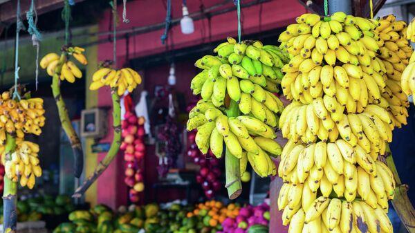 Бананы на рынке