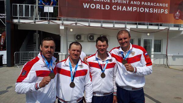 Павел Петров, Михаил Павлов, Иван Штыль и Виктор Мелантьев (слева направо)