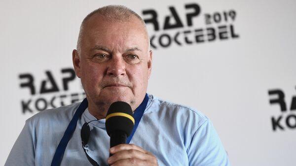 Дмитрий Киселев на пресс-конференции, посвященной открытию фестиваля Rap Koktebel – 2019 в Крыму