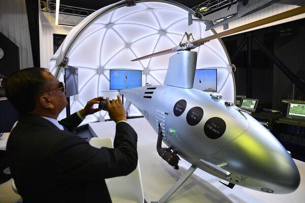 Российский беспилотный вертолет К2 Клен, представленный на Международном авиационно-космическом салоне МАКС-2019 в подмосковном Жуковском