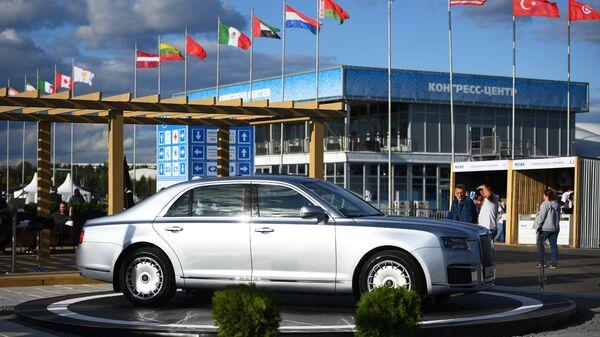 Автомобиль Aurus Senat на Международном авиационно-космическом салоне МАКС-2019