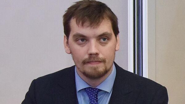 Заместитель главы офиса президента Украины Алексей Гончарук во время посещения школы депутатов партии Слуга народа в Трускавце. 29 августа 2019