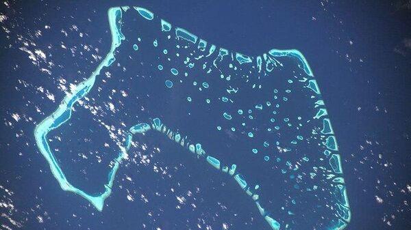 Мальдивы с Международной космической станции