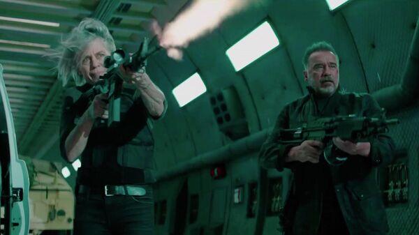 Кадр из трейлера фильма Терминатор: Темные судьбы