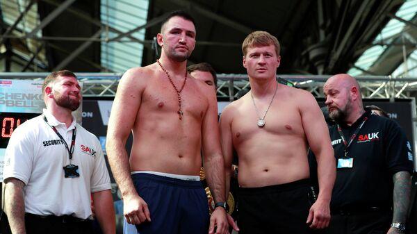 Хьюи Фьюри и Александр Поветкин (справа)