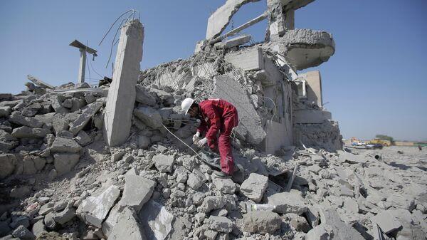 Разрушения в провинции Дхамар на юго-западе Йемена
