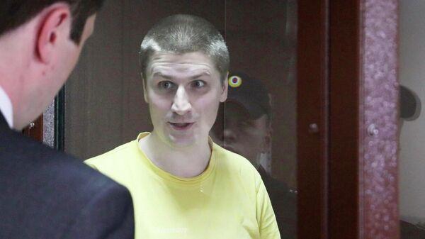 Блогер Владислав Синица во время заседания Пресненского суда Москвы