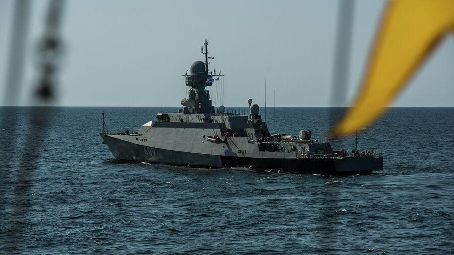 Малый ракетный корабль проекта 21631 Вышний Волочек после ракетного удара