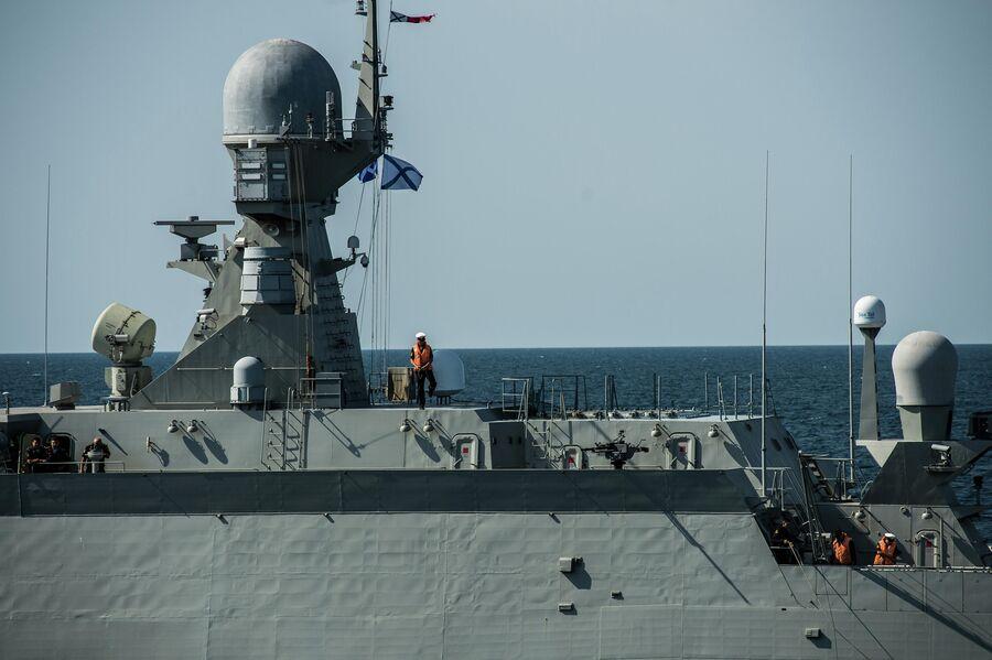 Малый ракетный корабль проекта 21631 Вышний Волочек после удара