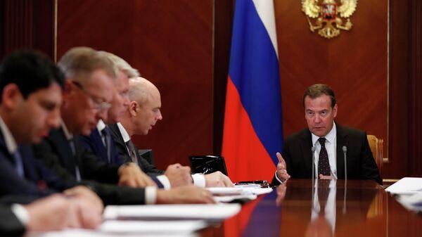 Дмитрий Медведев проводит совещание о расходах федерального бюджета на 2020 год и на плановый период 2021 и 2022 годов в части культуры, физической культуры и спорта