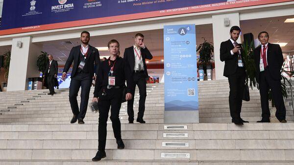 Участники на площадке V Восточного экономического форума во Владивостоке