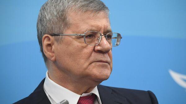 Генеральный прокурор РФ Юрий Чайка на сессии в рамках V Восточного экономического форума во Владивостоке