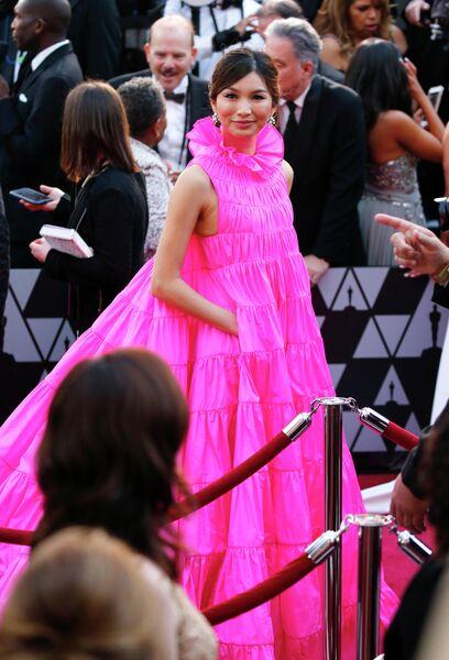Английская актриса Джемма Чан на церемонии вручения премии Оскар в Голливуде в Лос-Анджелесе