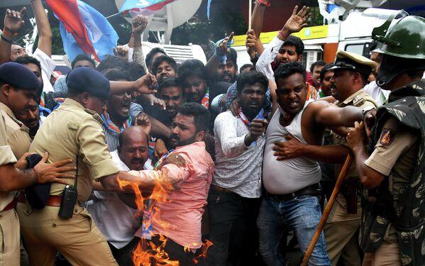 Акция протеста в Бангалоре, Индия