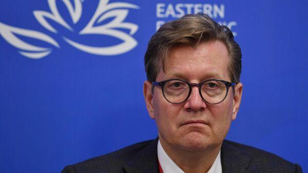 Заместитель министра сельского хозяйства РФ Сергей Левин на сессии Житница АТР: как экспортировать больше продовольствия с Дальнего Востока в рамках V Восточного экономического форума во Владивостоке