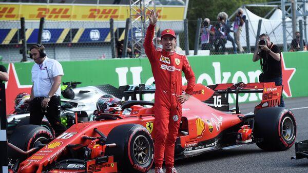 Пилот Феррари Шарль Леклер после квалификации Гран-при Италии