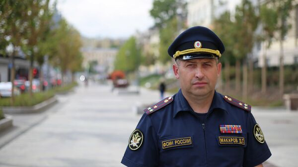 Начальник отдела кинологической службы управления охраны и конвоирования ФСИН России Дмитрий Макаров