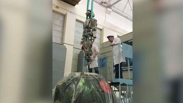 Робот Федор опубликовал видео его извлечения из Союза