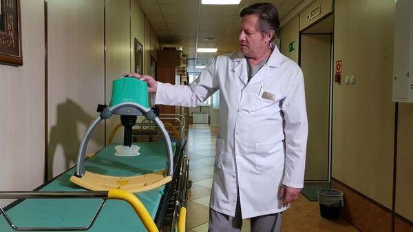 Автоматический аппарат, позволяющий проводить непрерывный массаж сердца, в Сахалинской областной больнице