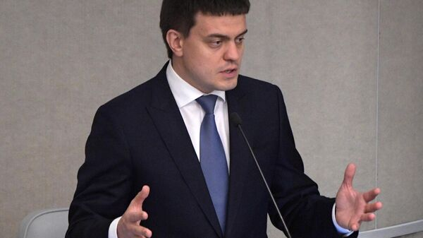 Министр науки и высшего образования РФ Михаил Котюков на пленарном заседании Государственной Думы