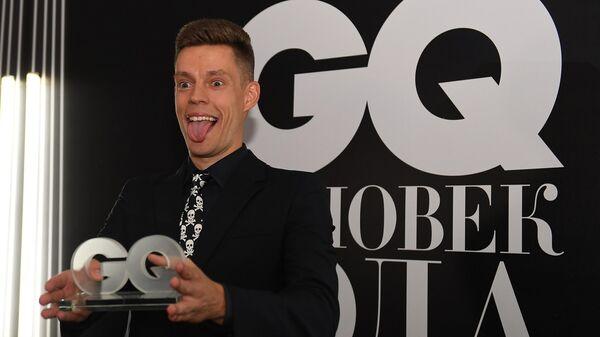Журналист и блогер Юрий Дудь, победивший в номинации Лицо с экрана, на церемонии вручения 17-й ежегодной премии Человек года 2019 по версии журнала GQ