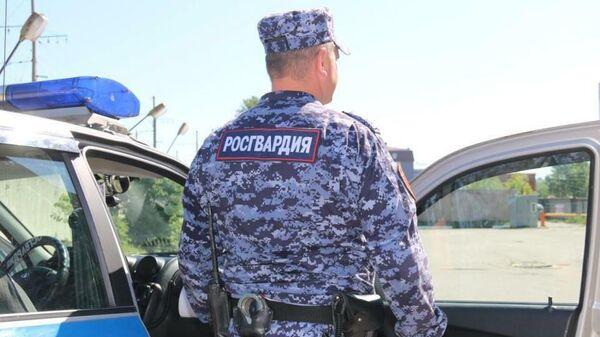 Сотрудник Росгвардии Санкт-Петербурга