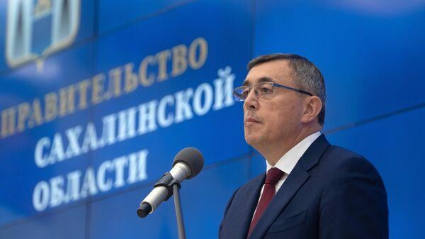 Избранный губернатор Сахалинской области Валерий Лимаренко на церемонии инаугурации в Южно-Сахалинске