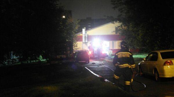 Пожар в жилом доме в Красноярске 16 сентября 2019