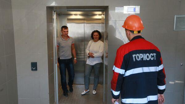 Лифт ГБУ Гормост в подземном переходе