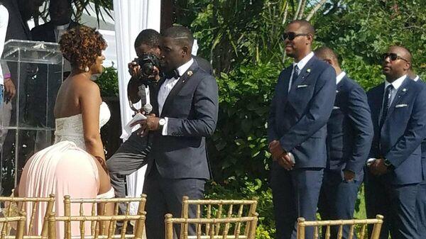 Фотография свадебного торжества Трумана Бурбанка