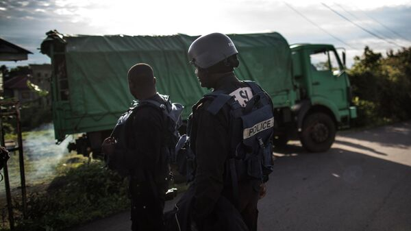 Сотрудники полиции в Камеруне