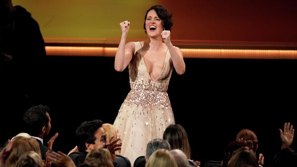 Фиби Уоллер-Бридж на церемонии вручения премии Эмми в Лос-Анджелесе