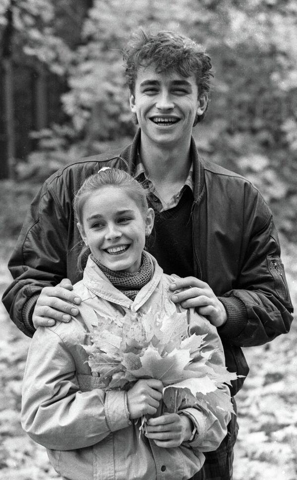 Советские фигуристы Екатерина Гордеева и Сергей Гриньков