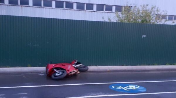 ДТП с участием мотоцикла в Чебоксарах,Чувашия