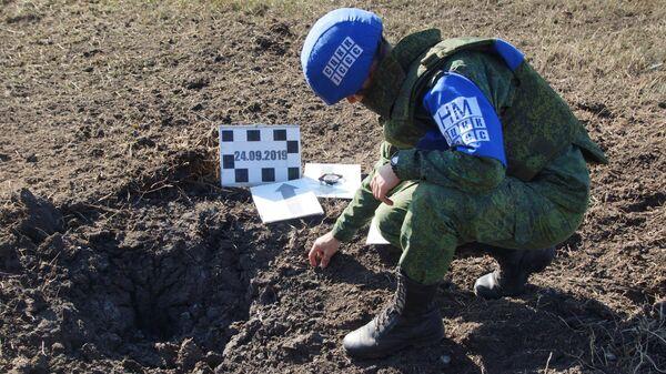 Последствия обстрела в Луганской области