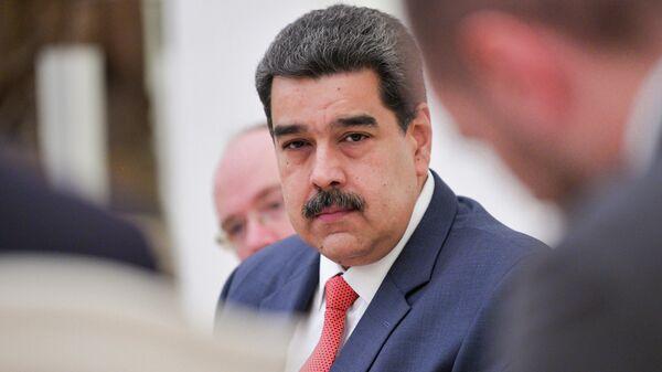 Президент Венесуэлы Николас Мадуро во время встречи с президентом РФ Владимиром Путиным
