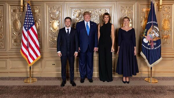 Президент США Дональд Трамп и президент Украины Владимир Зеленский с супругами