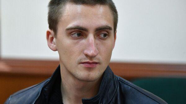 Актер Павел Устинов в Мосгорсуде во время рассмотрения жалобы защиты на приговор Тверского суда