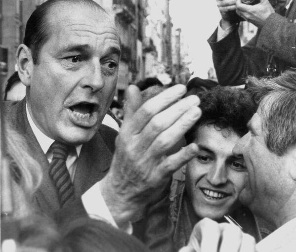 Премьер-министр Франции Жак Ширак в Бордо. 11 марта 1988 года
